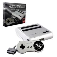 RetroDuo - Console - SNES & NES Dual 2in1 System - Silver/Black (Retro-Bit)
