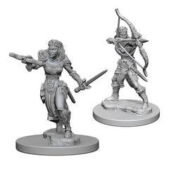 Dungeons And Dragons: Nolzur's Marvelous Unpainted Miniatures - Elf Ranger (Female)
