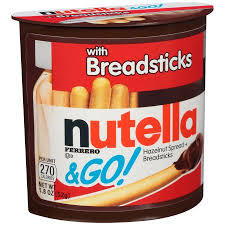 Nutella with Breadsticks