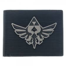 Zelda Bi-Fold Wallet w/ Black Metal Badge