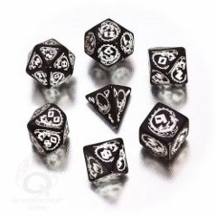 Dragons: RPG Dice Set - Black & White (7)