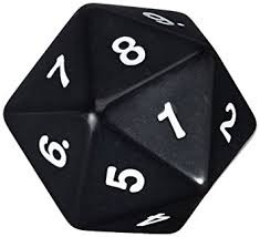 55MM Jumbo D20 Dice (Black)