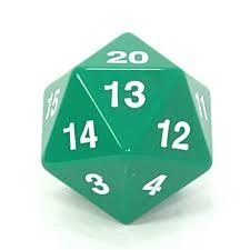 55MM Jumbo D20 Dice (Green)