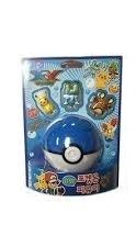 Pokemon: Blue Pokeball w/ 3 Figures