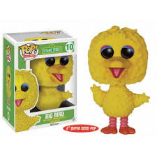 #10- Big Bird 6 in. FLOCKED (Sesame Street)