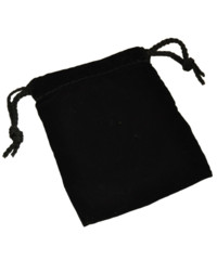 Velvet Dice Bag - Small (Black)