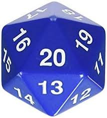55MM Jumbo D20 Dice (Blue)