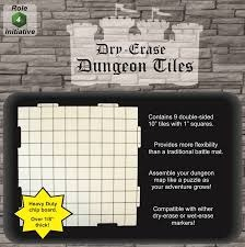 Dungeons and Dragons RPG - Dry Erase (Dungeon Tiles) - 10X10
