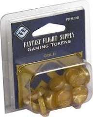 Gold Gaming Tokens - (Fantasy Flight) IN STORE SALES ONLY
