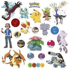 Wall Decals Pokemon (Peel&Stick)