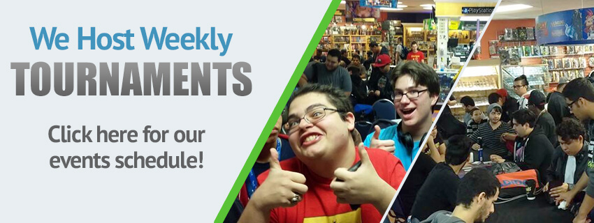 We Host Weekly Tournaments