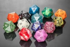 Mega D20: Assorted Colors