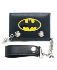 Batman Chain Wallet w/ Metal Badge