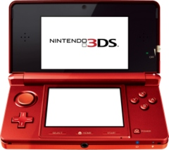 Nintendo 3DS Handheld System: Red