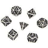 Dwarven Dice Set: White and Black (Q-Workshop)