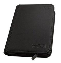 Black Three Row Mini American Size  ZipFolio Binder
