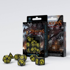 Dragons: RPG Dice Set - Black & Yellow
