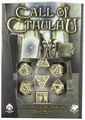 Call of Cthulhu - 7 Dice set - Beige/Black