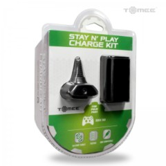 Hyperkin Stay N' Play Kit for Xbox 360 - Black