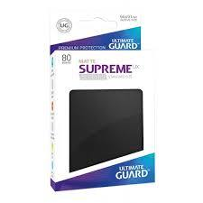 Ultimate Guard Card Sleeves: Supreme UX ‑ Matte Black (80)