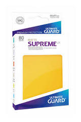 Ultimate Guard Card Sleeves: Supreme UX ‑ Matte Yellow (80)