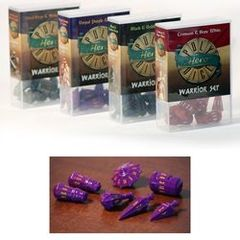 Hero Poly Dice: Warrior Dice - Purple and Amber