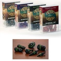 Hero Poly Dice: Warrior Set - Black and Goblin Green
