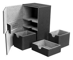 Black Twin Flip'n'Tray Xenoskin Deck Box 160+ct (Ultimate Guard)