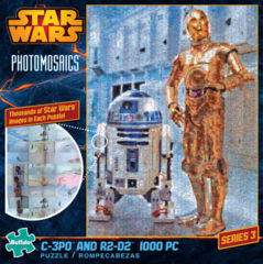 C3P0 and R2D2 - Star Wars Photomosaics (1000 Piece Puzzle)