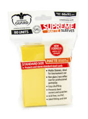 Ultimate Guard - Supreme (Matte Yellow) - Standard Sleeves