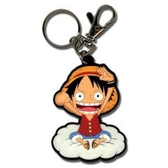 Luffy on the Cloud Key Chain (One Piece)