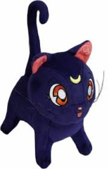Sailor Moon Luna Plush Doll, Purple, 5