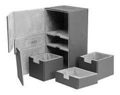 Black Twin Flip'n'Tray Xenoskin Deck Box 200ct (Ultimate Guard)