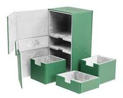 Green Twin Flip'n'Tray Xenoskin Deck Box 200ct (Ultimate Guard)