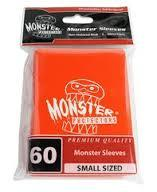 Monster Logo Card Sleeves Orange Small