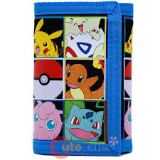 Pokemon: Multi Character Tri-Fold Wallet