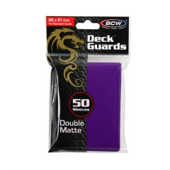 Purple - Deck Guard Matte Sleeves (BCW)