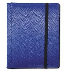 Dragon Hide 3x4 Pocket Binder - Blue