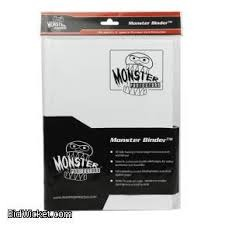 Monster Protectors 9 Pocket Matte White Binder