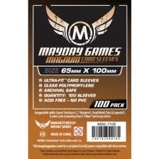 Clear - (Mayday Games) Magnum Sleeves - 65mm x 100mm - 100ct