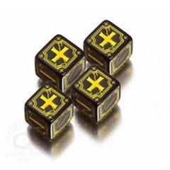 Black / Yellow - Ancient D6 (Q-Workshop)