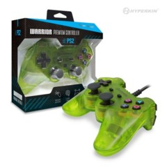 "Hyperkin PS2 ""Warrior"" Premium Controller (Clear Green)"