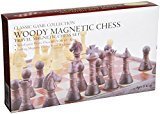 Wood‑Tone Magnetic Folding Chess Set