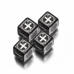 Black / White Ancient D6 - (Q-Workshop)