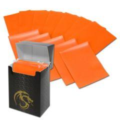BCW Deck Guard Matte Sleeves - Orange + Deck Box