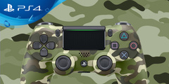 PlayStation 4 (PS4) Controller in Green Camoflage Wireless DualShock 4