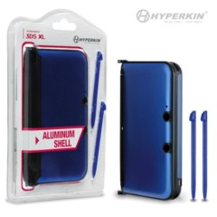 Hyperkin 3DS XL Aluminum Shell with 2 Stylus Pens (Blue)