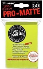 Bright Yellow - Pro Matte (Ultra Pro) - Standard Sleeves - 50ct