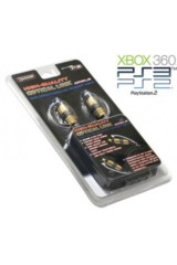 DragonPlus Xbox 360/ PS3/ PS2 High Quality Gold Optical Digital Audio Cable