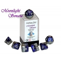 Moonlight Sonata - Midnight Purple & Moon Grey (Halfsies Dice) - 7
